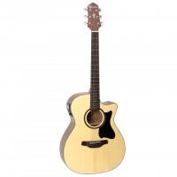 CRAFTER HT-100CE - электроакустическая гитара, верхняя дека ель, корпус...