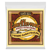 ERNIE BALL 2061 Earthwood 80/20 Bronze Frailing 10-24 - Струны для банджо