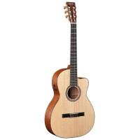 MARTIN 000C NYLON электроакустическая классическая гитара с кейсом