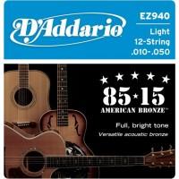 D'ADDARIO EZ940 - Струны для 12-ти струнной акустической гитары