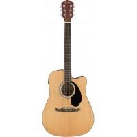 FENDER FA-125CE DREAD NATURAL WN электроакустическая гитара, цвет натуральный