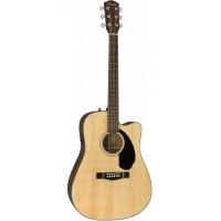 FENDER CD-60SCE Dread Nat WN электроакустическая гитара, цвет натуральный